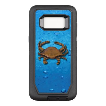 nautical_gifts Galaxy S8 OtterBox Defender Copper Crab on Bubbles OtterBox Defender Samsung Galaxy S8 Case