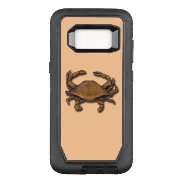 nautical_gifts Galaxy S8 OtterBox Defender Copper Crab on Cream OtterBox Defender Samsung Galaxy S8 Case