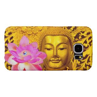 GALAXY S 6- STUNNING GOLDEN BUDDHA & PINK LOTUS SAMSUNG GALAXY S6 CASE