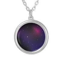Galaxy Silver Plated Necklace