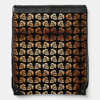 """Galaxy Skulls"" (Cracked) Drawstring Backpack"