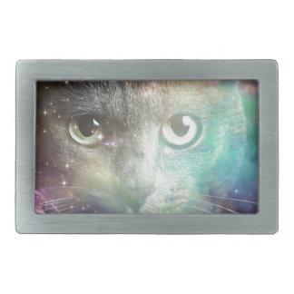 GALAXY SPACE CAT BELT BUCKLE