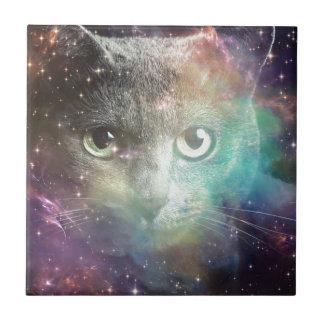 GALAXY SPACE CAT CERAMIC TILE