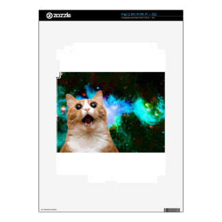 GALAXY SPACE CAT DECAL FOR iPad 2
