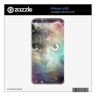GALAXY SPACE CAT iPhone 4 DECALS