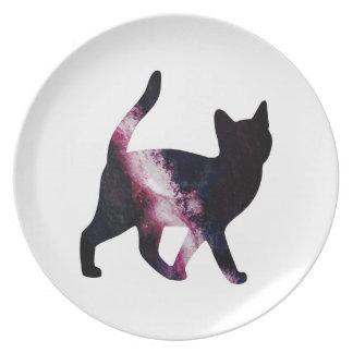 Galaxy Space Cat Melamine Plate