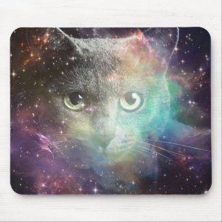GALAXY SPACE CAT MOUSE PAD