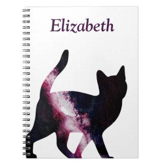 Galaxy Space Cat Spiral Notebook