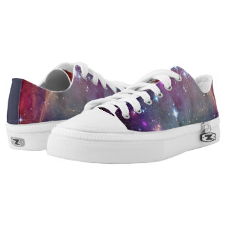 Galaxy space hipster background printed shoes