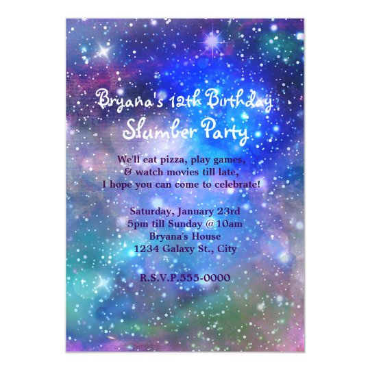 Galaxy Space Party Cosmic Birthday Invitations – Space Party Invitations
