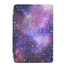 Galaxy space stars purple blue illustration iPad mini cover at Zazzle
