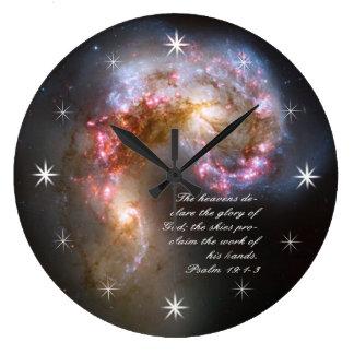 Galaxy Spacial Scripture Creation Wallclock