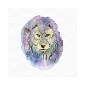 Galaxy Spirit Wolf Canvas Print
