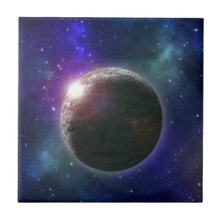 Galaxy_Star_Burst, _ Azulejo Cuadrado Pequeño