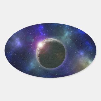 Galaxy_Star_Burst,_ Oval Sticker