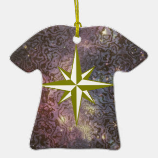 Galaxy Star Double-Sided T-Shirt Ceramic Christmas Ornament