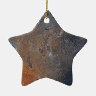 Galaxy Star Double-Sided Star Ceramic Christmas Ornament