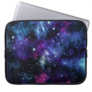 Galaxy Stars 3 Laptop Sleeve by OrganicSaturation at Zazzle