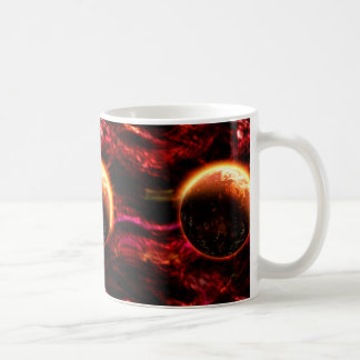 Galaxy Stars Flaming Aurora Coffee Mug