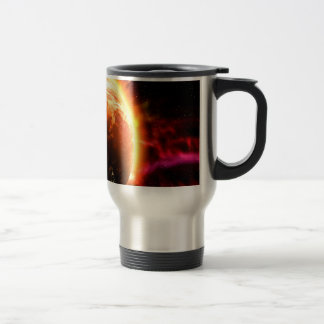 Galaxy Stars Flaming Aurora Travel Mug