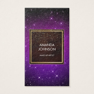 Galaxy Stars Golden Purle Black Elegance Vip Business Card