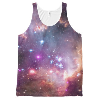 Galaxy stars nebula space hipster star photo All-Over print tank top