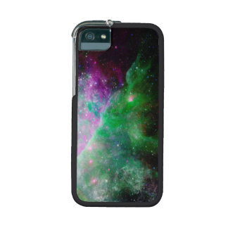 Galaxy Stars Space Green Purple Cover For iPhone 5/5S