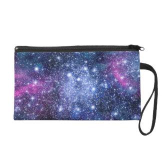 Galaxy Stars Wristlet Purse