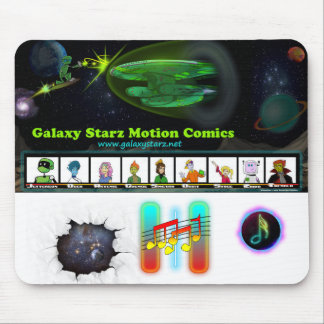 Galaxy Starz Motion Comic Mouse Pad