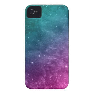 Galaxy Teal Pink Blue Nebula Stars iPhone 4 Case