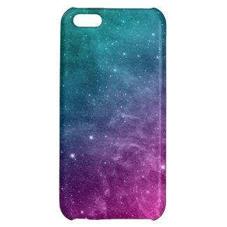 Galaxy Teal Pink Blue Nebula Stars Cover For iPhone 5C