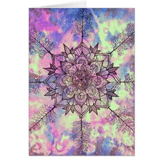 Galaxy Tree Mandala Card