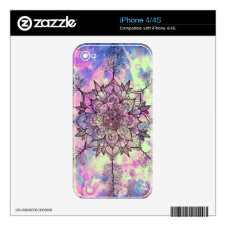 Galaxy Tree Mandala Decals For iPhone 4S