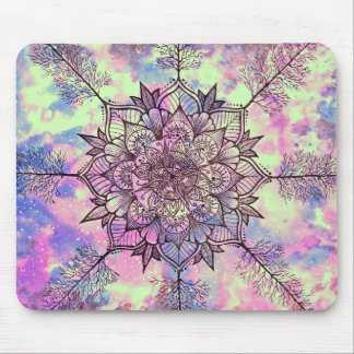 Galaxy Tree Mandala Mouse Pad