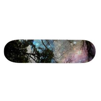 Galaxy trees skateboard deck