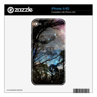 Galaxy trees skin for the iPhone 4