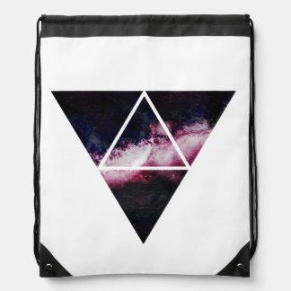 Galaxy triangle drawstring bag