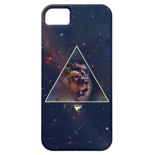 Galaxy Triangle Lion Head - Trendium Authentic iPhone 5 Case