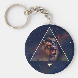Galaxy Triangle Lion Head - Trendium Authentic Key Chain