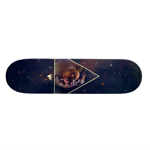 Galaxy Triangle Lion Head - Trendium Authentic Skateboard Deck