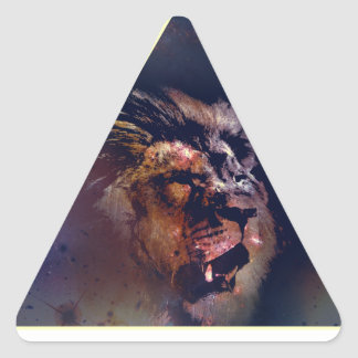 Galaxy Triangle Lion Head - Trendium Authentic Triangle Sticker
