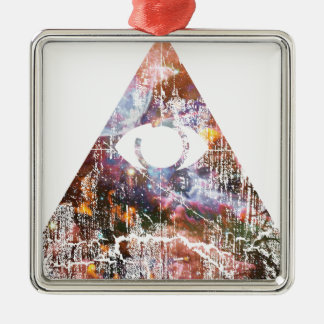 Galaxy Triangle Metal Ornament