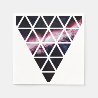 Galaxy Triangle of triangles Disposable Napkins