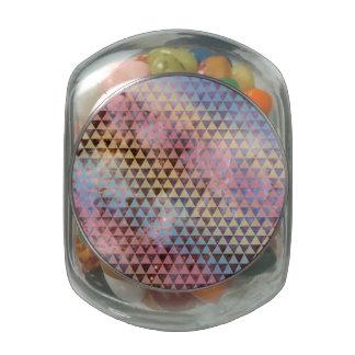 Galaxy Triangle Pattern Space Nebula Geometric Jelly Belly Candy Jar