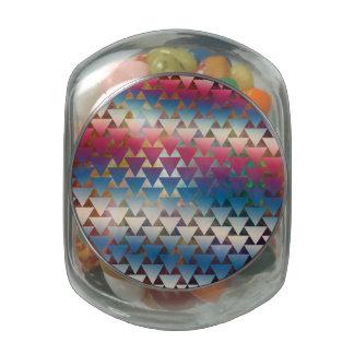 Galaxy Triangle Pattern Space Nebula Geometric Glass Candy Jar