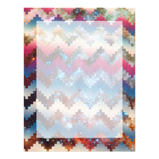 Galaxy tribal chevron Space Geometric Pattern Letterhead
