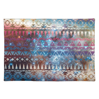 Galaxy Tribal Pattern Space Aztec Andes Ethnic Cloth Place Mat