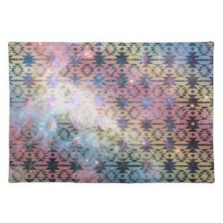 Galaxy Tribal Pattern Space Aztec Andes Ethnic Cloth Placemat