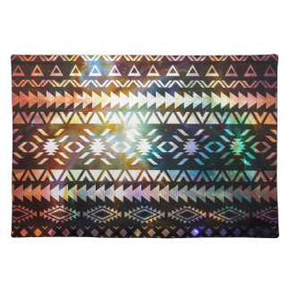 Galaxy Tribal pattern Space Aztec Ethnic Andes Cloth Placemat