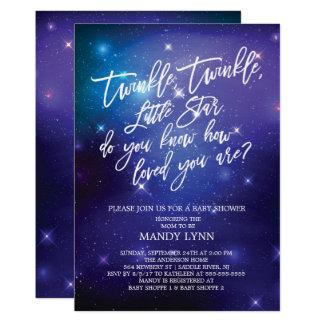Galaxy Twinkle Twinkle Star Baby Shower Card